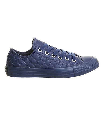 CONVERSE All star low-top quilted leather trainers (Navy quilt