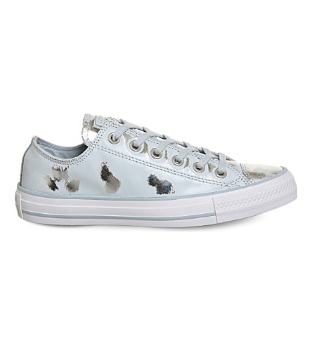 4fd181d95284 CONVERSE All Star distressed leather low-top trainers (Polar+blue+silver