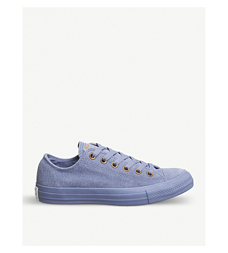 CONVERSE All Star low-top leather trainers (Pioneer+blue+mono