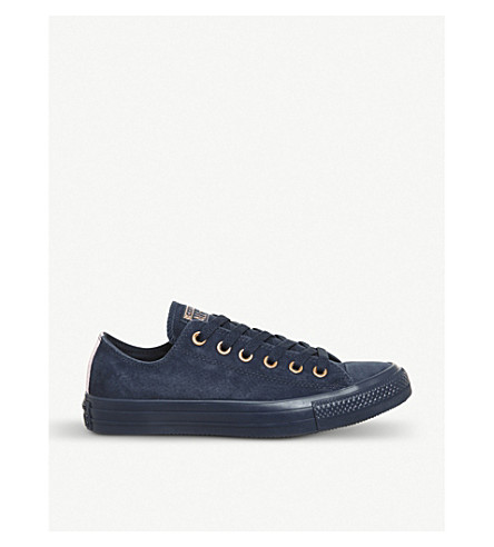 CONVERSE Allstar low-top leather trainers (Navy+cherry+blossom
