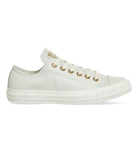 CONVERSE All star low-top leather trainers (Egret+rose+gold