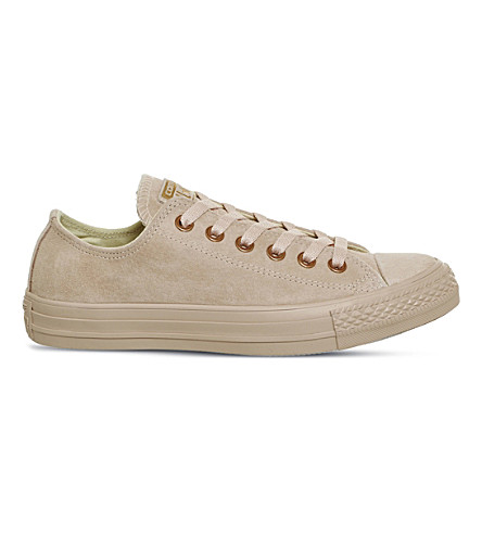 CONVERSE All Star suede low-top sneakers (Bisque+rose+gold