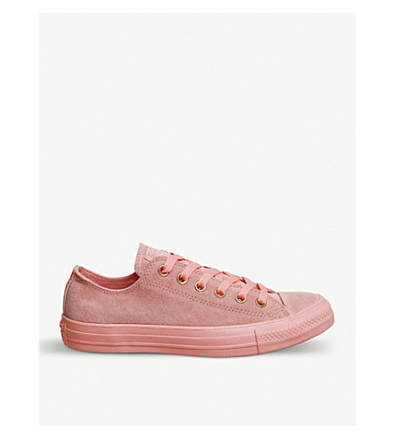CONVERSE All Star low-top leather trainers (Sunset+blush+mono