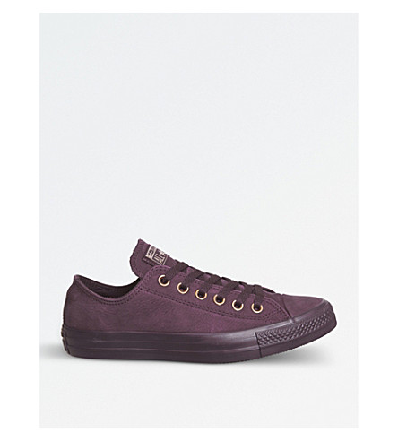 CONVERSE All Star suede low-top trainers (Dark+sangria+gold