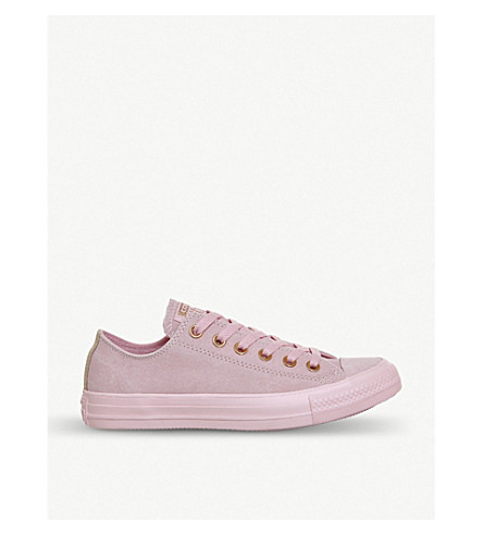 CONVERSE Allstar low-top leather trainers (Cherry+blossom+beige