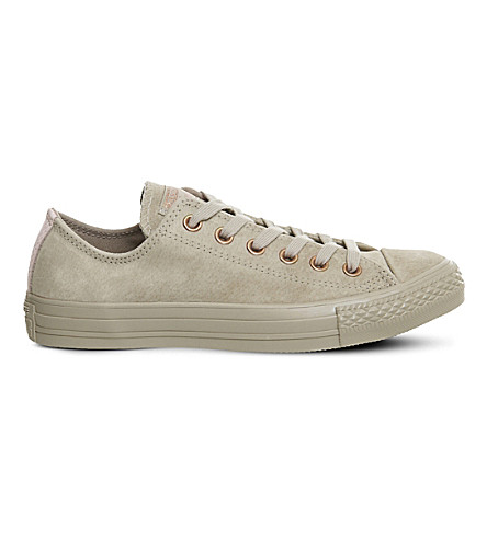 CONVERSE Chuck taylor All Star low-top leather trainers (Vintage+khaki+pink
