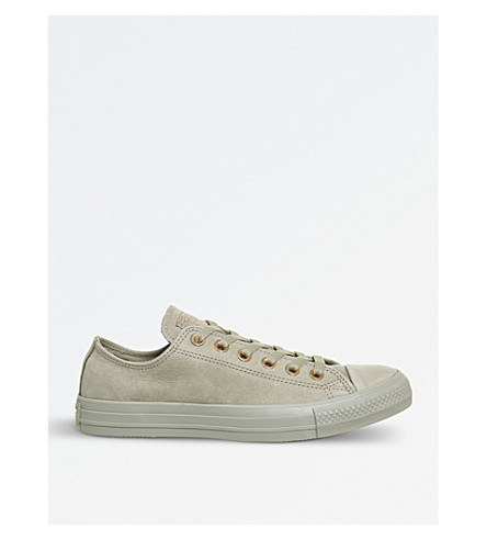 CONVERSE All Star suede low-top trainers (Khaki+rose+gold