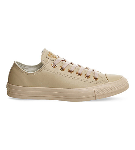 CONVERSE All star low-top leather trainers (Rose+tan+rose+gold