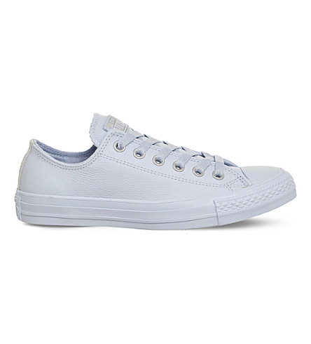 CONVERSE All Star low-top leather trainers (Porpoise+silver