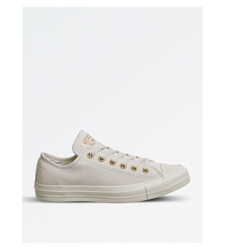 CONVERSE All Star suede low-top trainers (Whisper+pink+gold