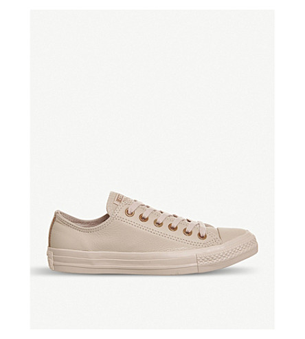 CONVERSE All Star low-top leather trainers (Dusk+pink+rose+gold