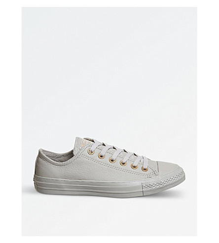 CONVERSE All Star low-top leather trainers (Malted+rose+gold