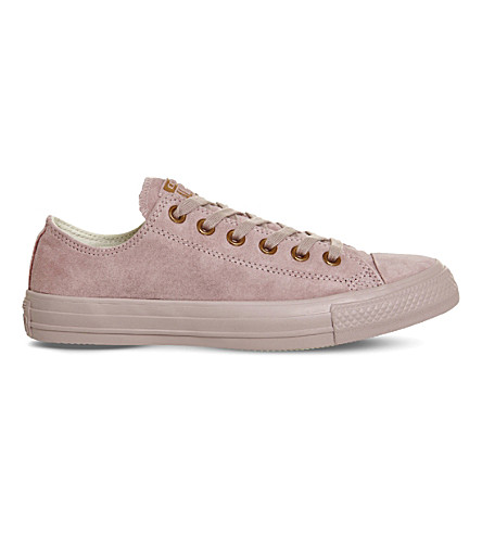 CONVERSE All star low-top suede trainers (Lilac+rose+gold