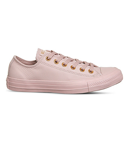 CONVERSE All Star low-top leather trainers (Pale+mauve+blush