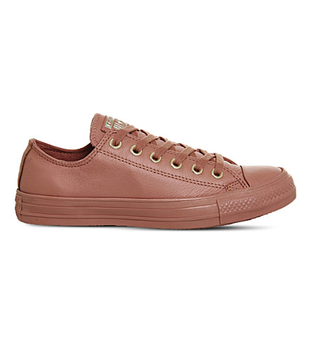 CONVERSE All-star low-top leather trainers (Desert sand gold