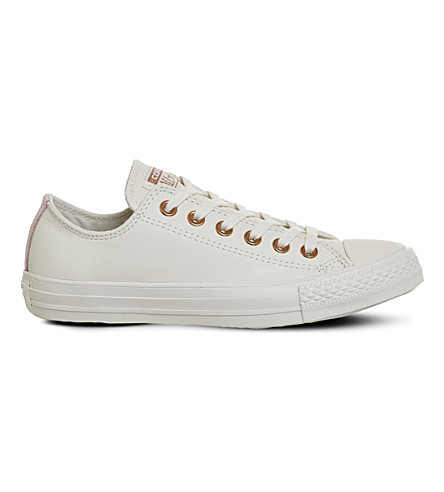 CONVERSE Chuck taylor All Star low-top leather trainers (Egret+vapour+pink