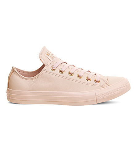 CONVERSE All Star leather low-top trainers (Evening+sand+mono