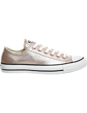 CONVERSE Metallic leather trainers