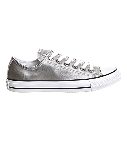 CONVERSE Allstar low-top leather trainers (New+silver