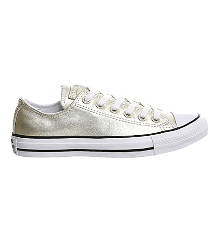 CONVERSE Allstar low-top leather trainers (New+gold