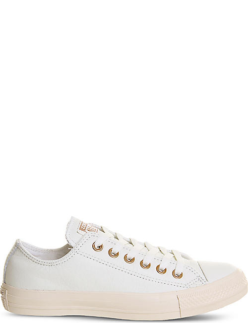 converse egret rose gold. converse all star low-top leather trainers converse egret rose gold y