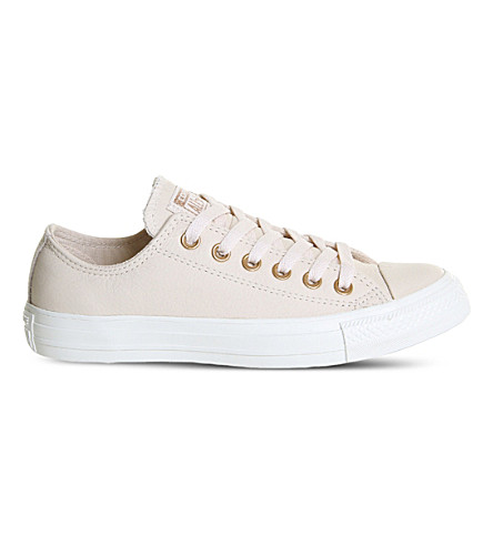 CONVERSE All star low-top leather trainers (Egret+pastel+rose