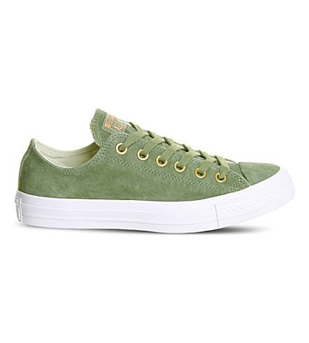 CONVERSE All star low-top suede trainers (Fatigue+green+blush