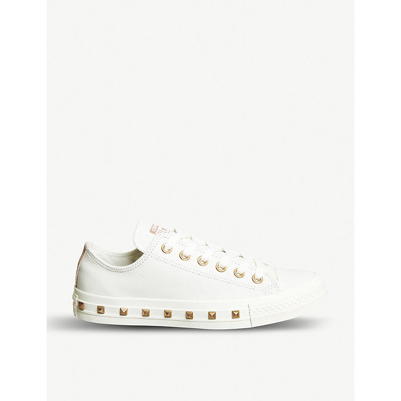All Star studded leather low-top sneakers