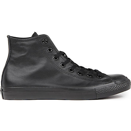 CONVERSE All Star leather high-top trainers (Black