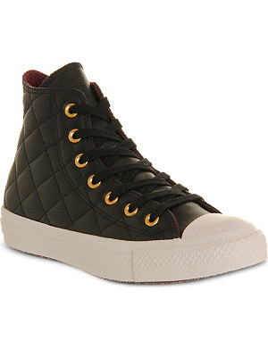CONVERSE All Star quilted-leather high tops