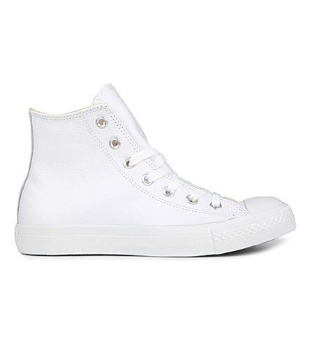 CONVERSE All Star leather high-top trainers (White