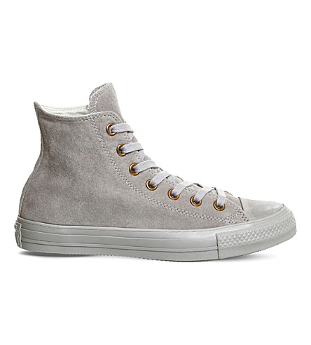 CONVERSE All star hi suede trainers (Ash+grey+rose+gold