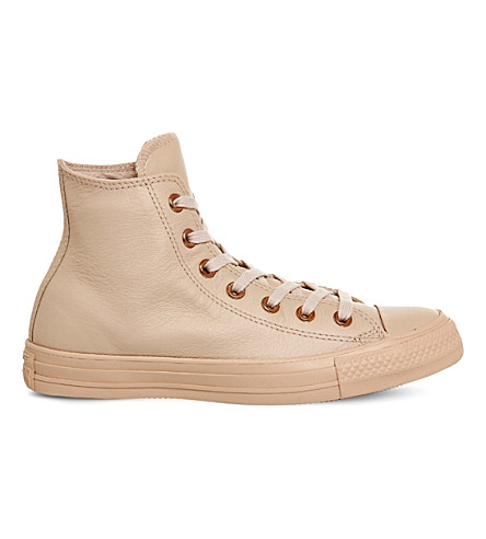 CONVERSE All Star leather high-top trainers (Frappe+mono