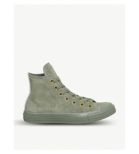 CONVERSE All star high-top leather trainers (Dark+stucco+grape