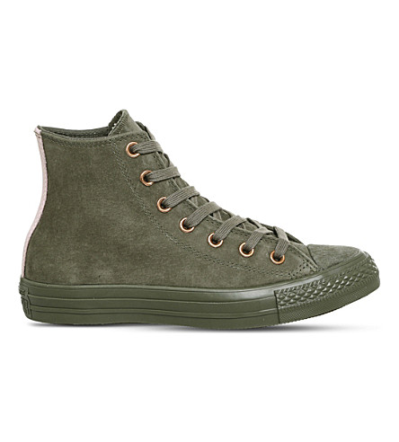 CONVERSE All Star suede high-top trainers (Burnt+olive