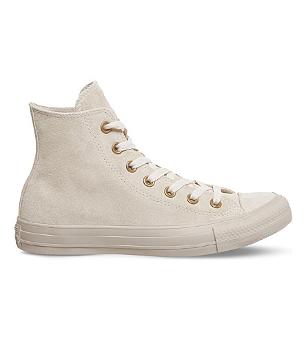 CONVERSE All Star high-top suede trainers (Pastel+rose+tan