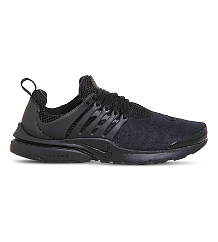 NIKE Presto gs mesh trainers (Black+black