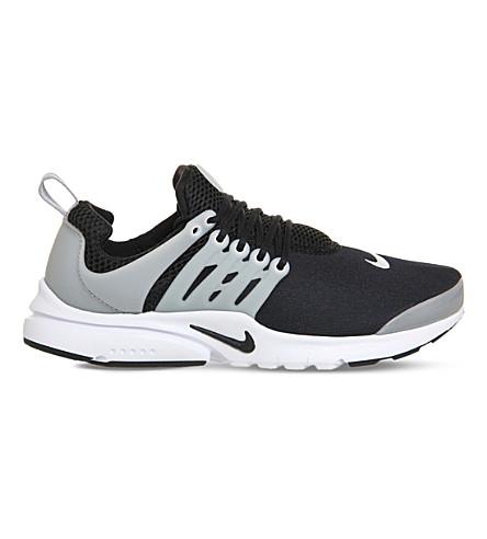 NIKE Presto Gs mesh trainers (Black white grey