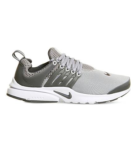 NIKE Presto gs mesh trainers (Cool grey white