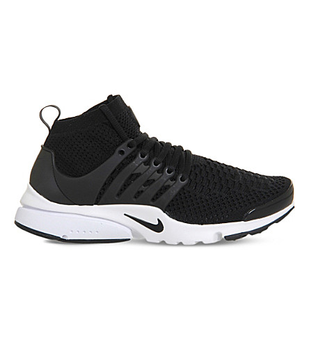 NIKE Air presto ultra flyknit and rubber trainers (Black black white