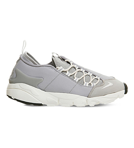 NIKE Air Footscape leather and mesh trainers (Wolf+grey+white