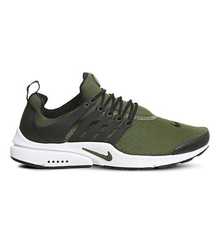 NIKE Air Presto caged mesh sneakers (Legion+green+black
