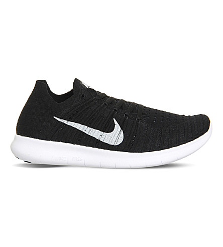 NIKE Freerun flyknit knitted trainers (Black white