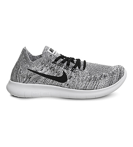 NIKE Free Run flyknit trainers (Grey+white