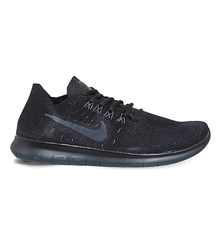 NIKE Free Run Flyknit trainers (Black+mono