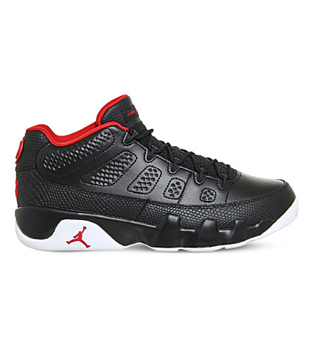 NIKE Jordan 9 retro low-top leather trainers (Black gym red white