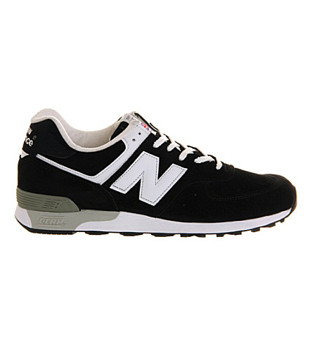 NEW BALANCE 576 suede trainers (Black+white