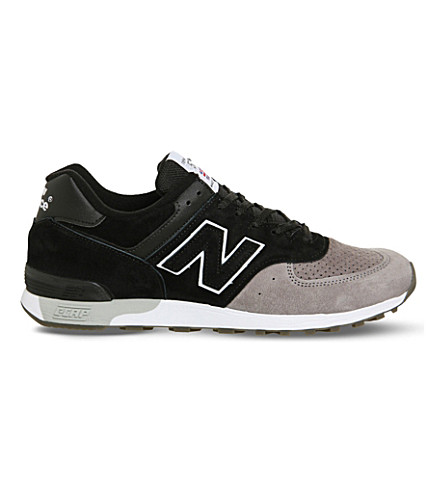 NEW BALANCE 576 suede trainers (Black+grey
