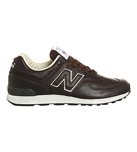 NEW BALANCE 576 leather trainers (Brown+leather