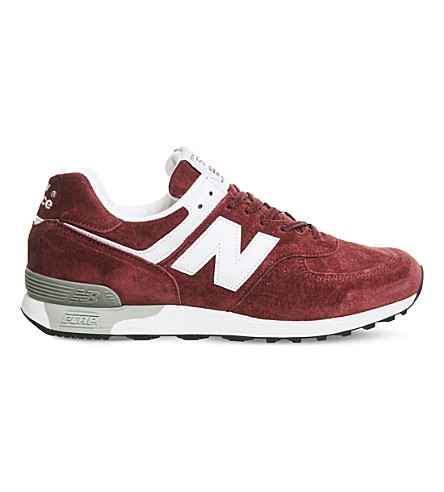 NEW BALANCE 576 low-top suede trainers (Burgundy+white+miuk